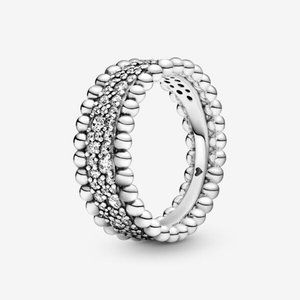 Pandora  Beaded Pave Band Ring